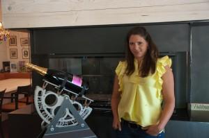 Stephanie Trierenberg leitet das Marketing des Weingutes.