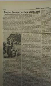 """Die """"Süd-Ost Tagespost"""" widmete einen größeren Bericht der Eröffnung der südsteirischen Weinstraße."""