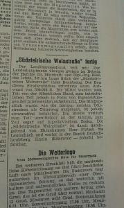 """Auch die """"Neue Zeit"""" berichtete damals von der Eröffnung. (Foto: Bibliothek der Arbeiterkammer Steiermark)"""