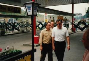 Vor 20 Jahren verliefen bei der Agip-Tankstelle an der slowenischen Grenze die Panzersperren. Heute trifft man sich dort auf ein Bier.