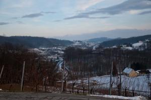 Der Ausblicke der Buschenschank Trummer hat mit dem Slowenienkrieg historische Bedeutung bekommen.