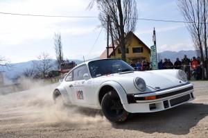 Kris Rosenberger setzte sich mit seinem Porsche in der historischen Klasse durch. Fotocredit: Harald Ilmer (IG Rallye)
