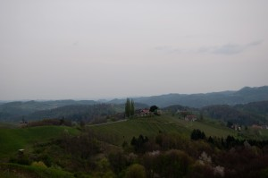 Von der Terrasse aus hat man eine perfekte Aussicht.