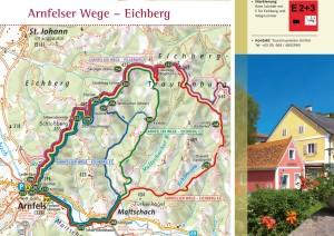 Die Wanderkarte zu den Arnfelser Wegen - Eichberg, Download: http://bit.ly/1zIEH9S