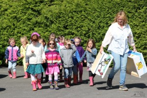 Die Kinder des Kindergarten Langegg (Foto: Ulrike Elsneg)
