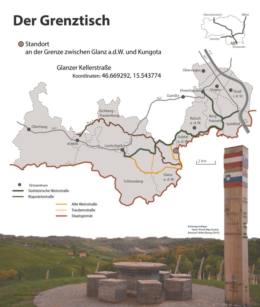 Der Grenztisch -Übersichtskarte